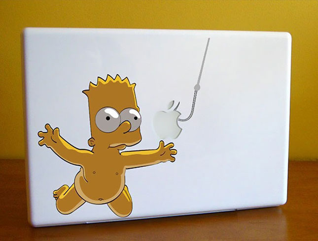 bart-Must Have Stickers For Apple And Video Game Geeks