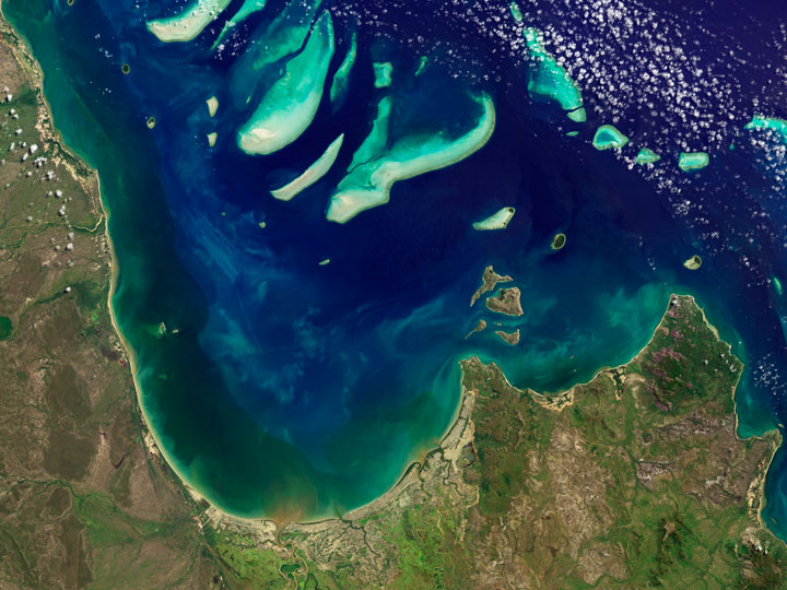 The coral reefs of the Bay of Princess Charlotte - Australia