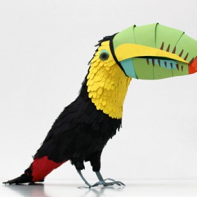 Amazing Colorful Birds Made Entirely Of Paper (Photo Gallery)