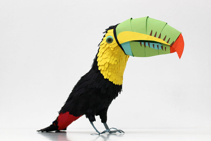 Amazing Colorful Birds Made Entirely Of Paper 2