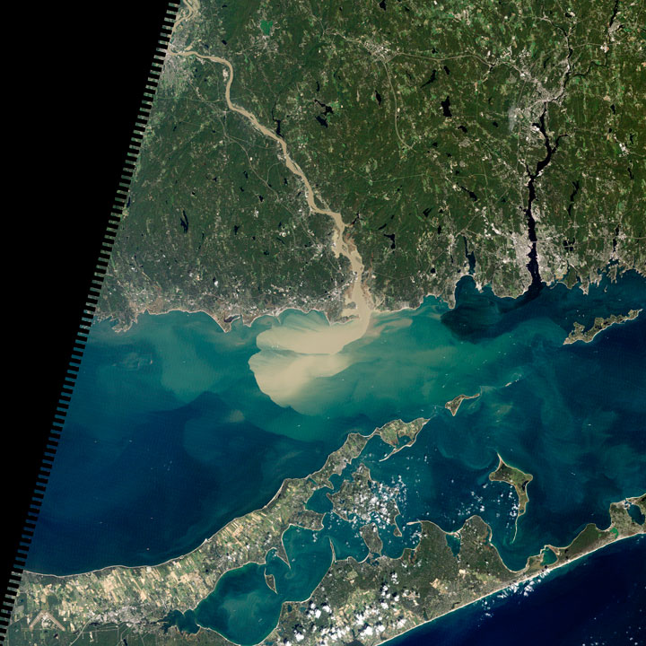 Sediments seen in the Connecticut River