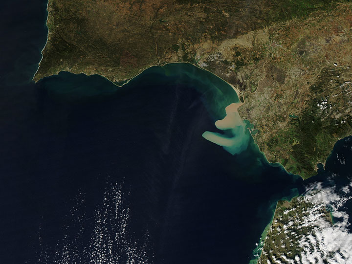 Sediment off the Spanish coast