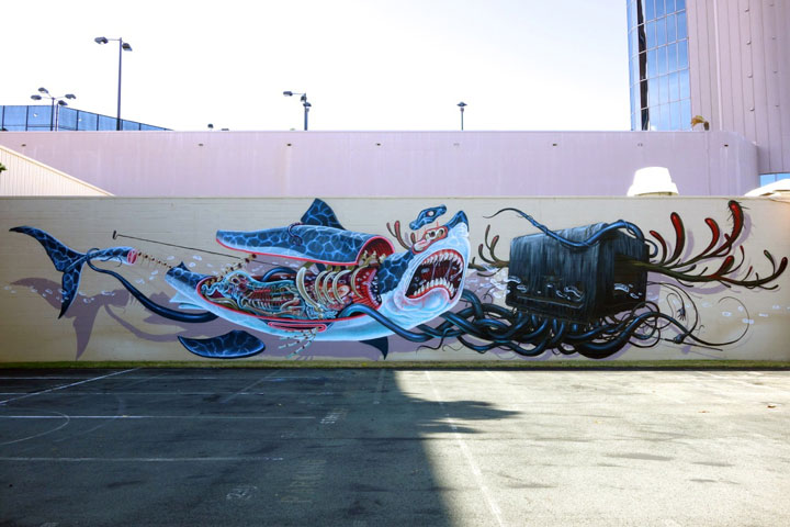 An Artist Reveals The Anatomy Of His Creations In Gigantic Murals