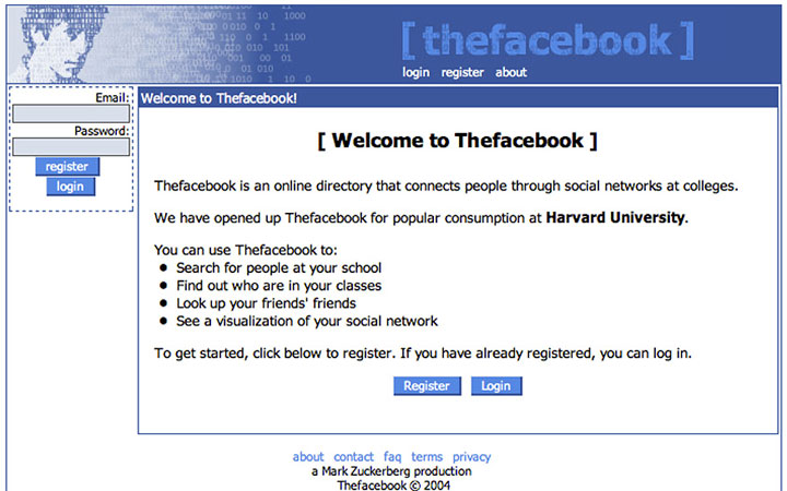 Before: Facebook in 2004
