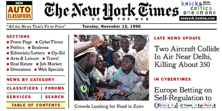 Before: New York Times in 1996