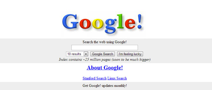 Before: Google in 1998