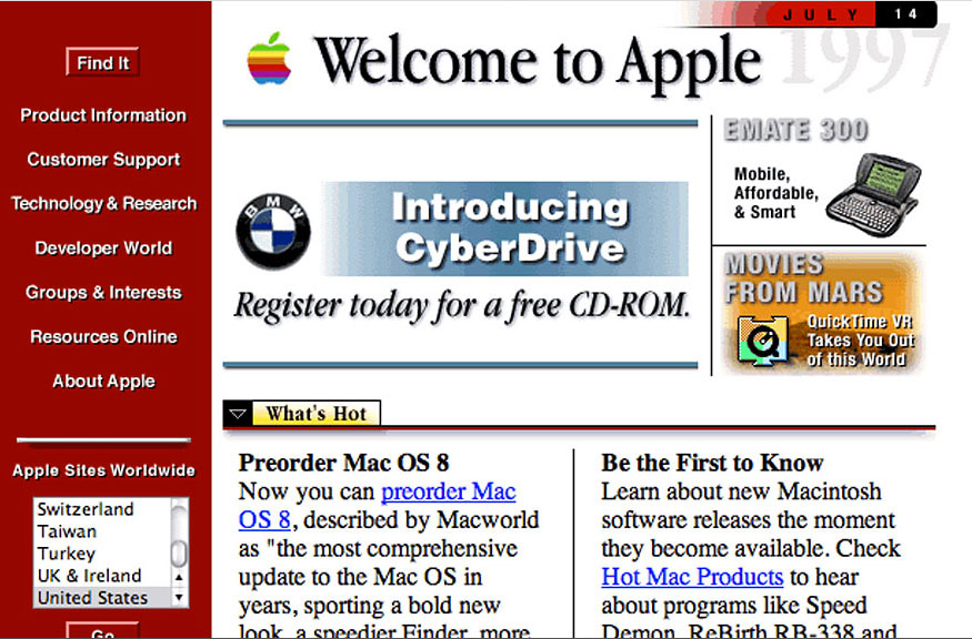 Before: Apple in 1998