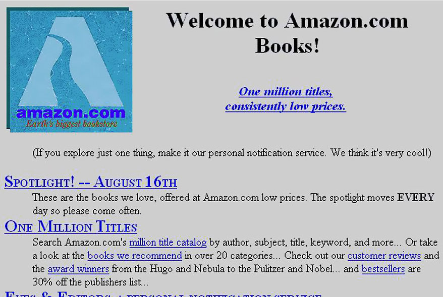 Before: Amazon in 1995