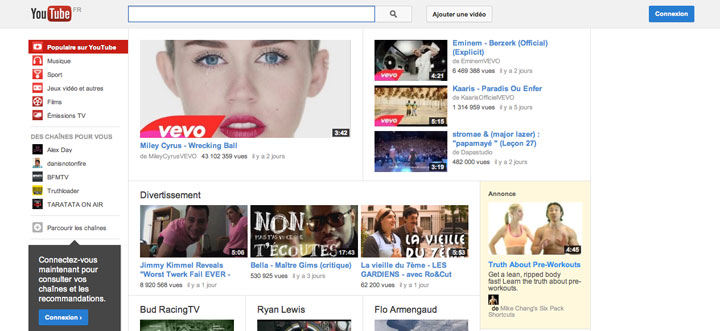 After: Youtube in 2013