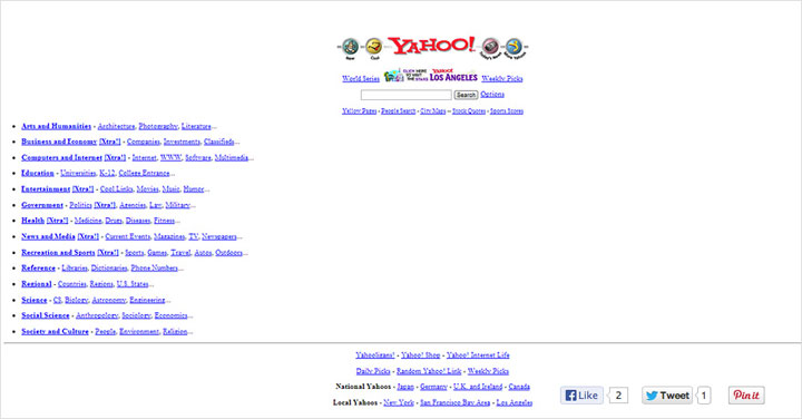 Before: Yahoo! in 1995