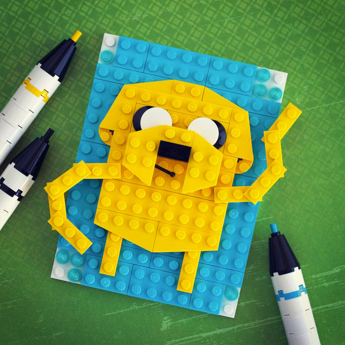 Jake - Adventure Time-LEGO to recreate Characters Of Your in Favourite Movie And Cartoon Series