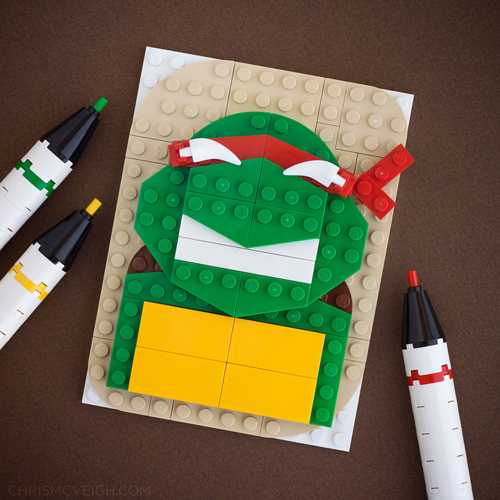Raphael - Teenage Mutant Ninja Turtles-LEGO to recreate Characters Of Your in Favourite Movie And Cartoon Series
