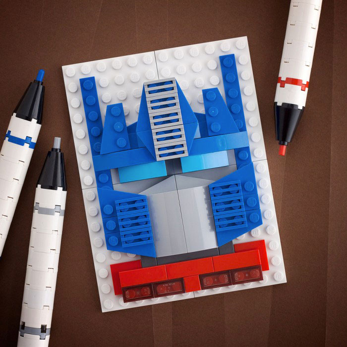 Optimus Prime - Transformers-LEGO to recreate Characters Of Your in Favourite Movie And Cartoon Series