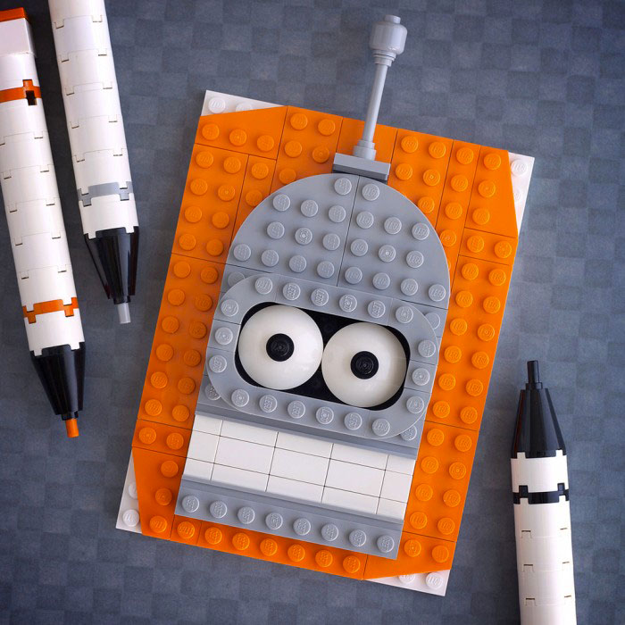 Bender - Futurama-LEGO to recreate Characters Of Your in Favourite Movie And Cartoon Series