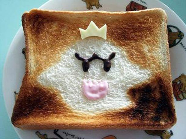 Cute Toast Art  by Japanese-a bird print on slice of bread