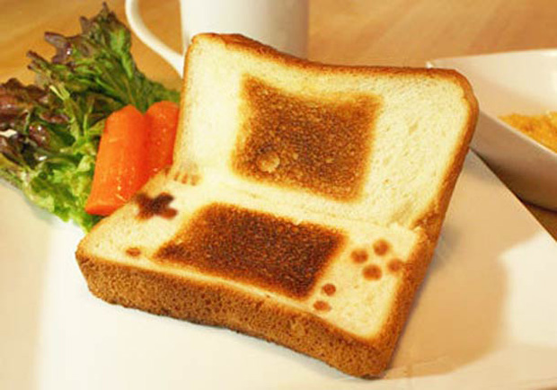 Cute Toast Art  by Japanese- psp print on slice of bread