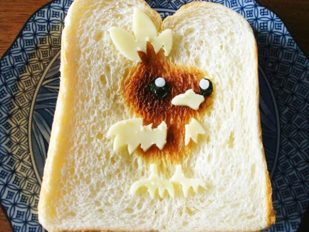 Cute Toast Art  by Japanese-chick print on slice of bread