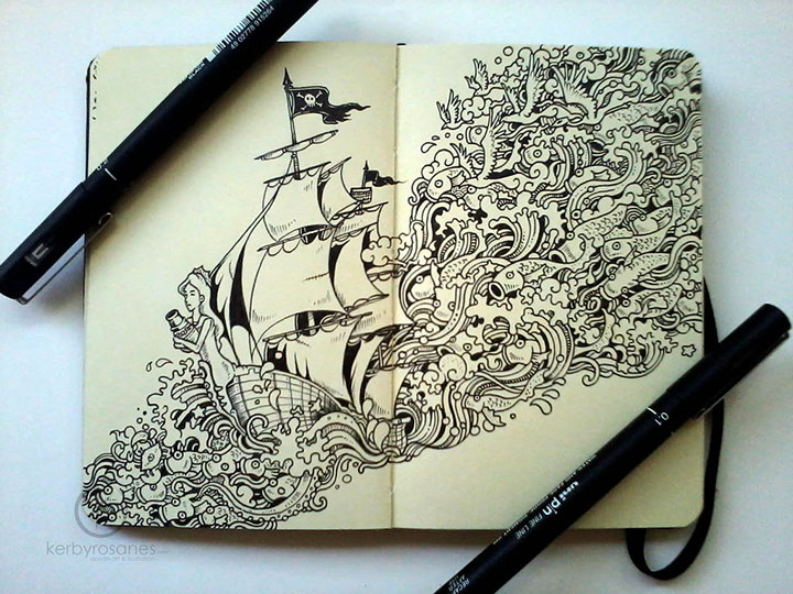 Amazing World Doodle Art Illustrations Of Kerby Rosanes