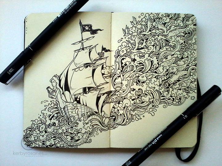 Amazing World Doodle Art Illustrations Of Kerby Rosanes