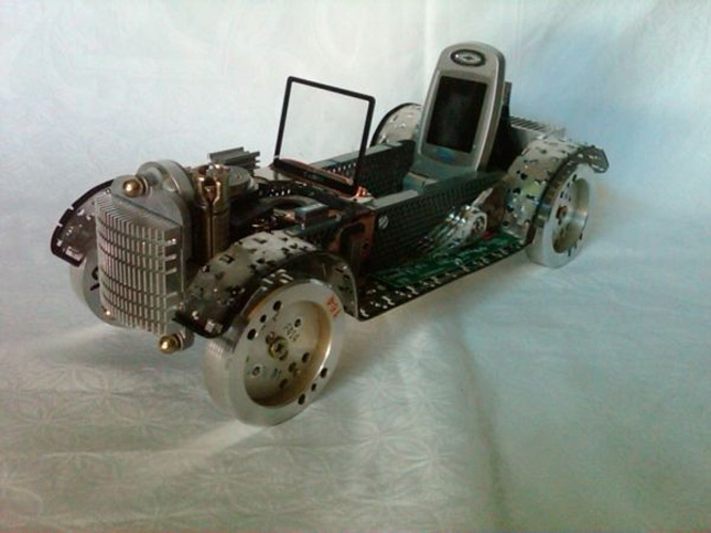 The computer car by Enrique Conde-Geek Art Inspired By High-Tech