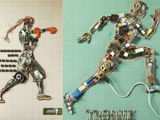 Bionic athletes by Murilo Melo-Geek Art Inspired By High-Tech