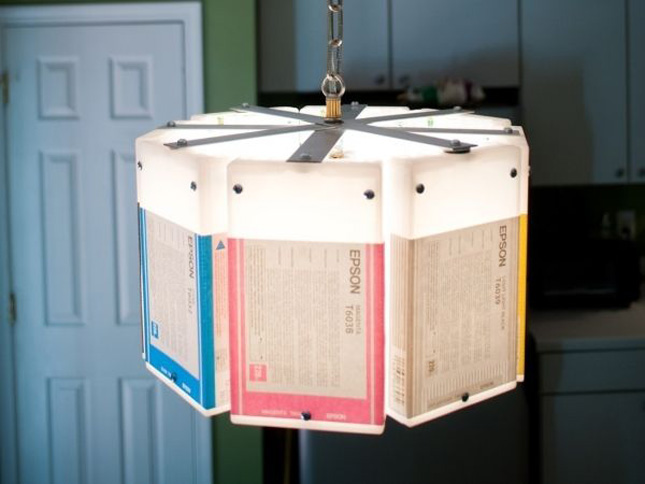 The printer ink cartridges lamp by Lowell & Louise-Geek Art Inspired By High-Tech