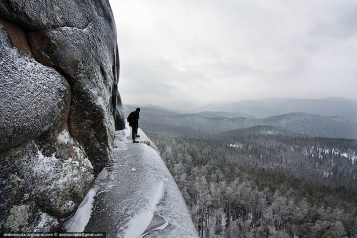 Krasnoyarsk, Russia , amazing photo taken from the top of a mountain