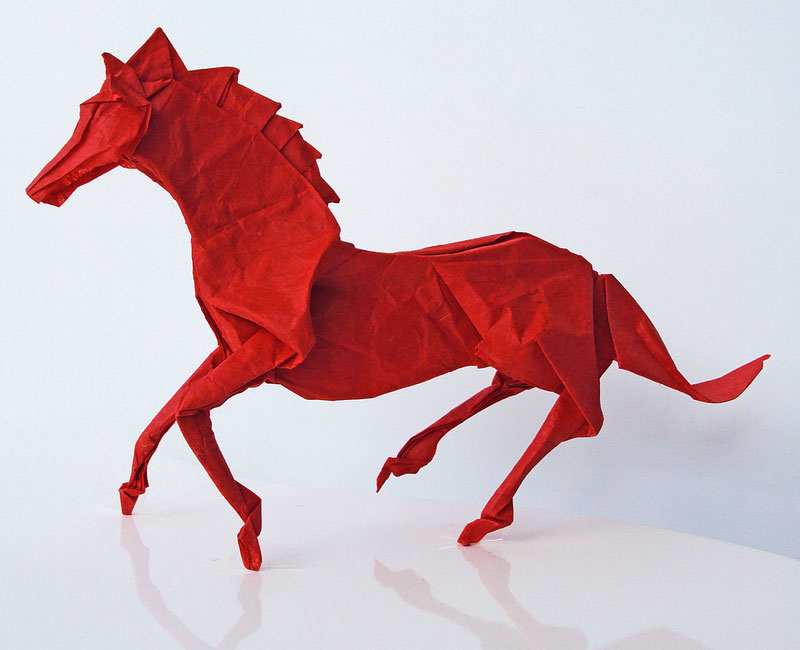 the art of origami converts the paper into beautiful animals photo gallery. Black Bedroom Furniture Sets. Home Design Ideas