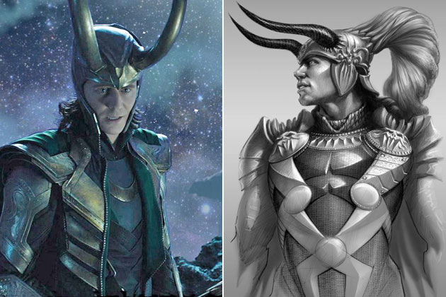 Loki (Thor)-Original Images Of Famous Movie Characters As Imagined By Their Designers
