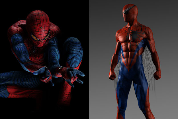 Spider-man-Original Images Of Famous Movie Characters As Imagined By Their Designers