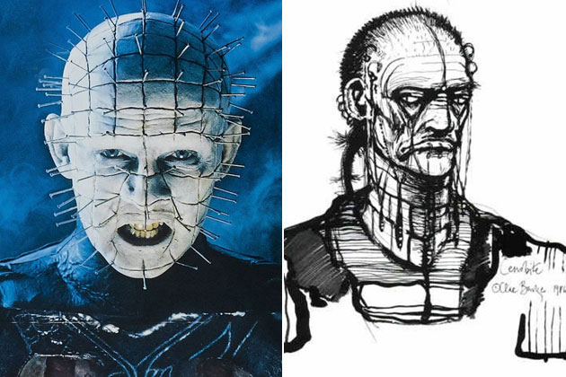 Pinhead (Hellraiser)-Original Images Of Famous Movie Characters As Imagined By Their Designers