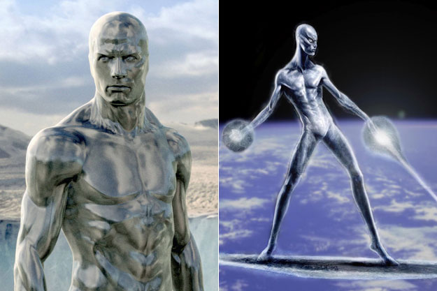 The Silver Surfer (Fantastic 4 and the silver surfer)-Original Images Of Famous Movie Characters As Imagined By Their Designers