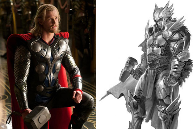 Thor-Original Images Of Famous Movie Characters As Imagined By Their Designers