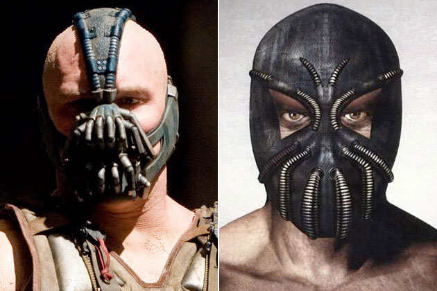 Bane (The Dark Knight Rises)-Original Images Of Famous Movie Characters As Imagined By Their Designers