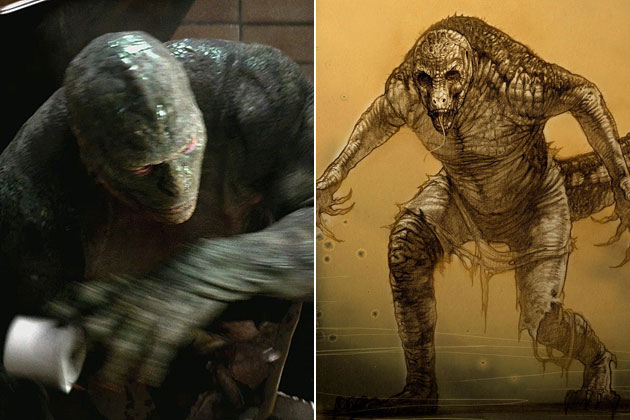 The (The Amazing Spider-man) lizard-Original Images Of Famous Movie Characters As Imagined By Their Designers