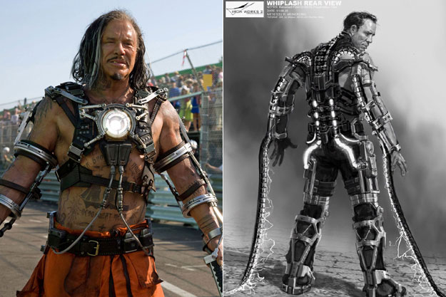 Whiplash (Iron Man 2)-Original Images Of Famous Movie Characters As Imagined By Their Designers