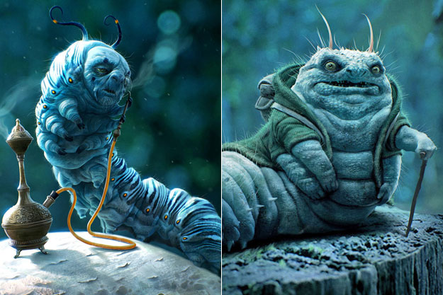Absolem, the Blue Caterpillar (Alice in Wonderland)-Original Images Of Famous Movie Characters As Imagined By Their Designers