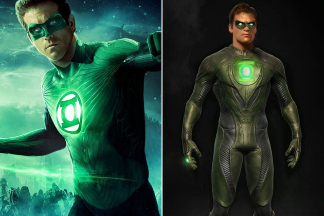 Green Lantern-Original Images Of Famous Movie Characters As Imagined By Their Designers