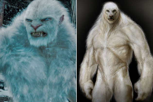 Yeti (The Mummy: Tomb of the Dragon Emperor)-Original Images Of Famous Movie Characters As Imagined By Their Designers