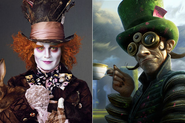 The Mad Hatter (Alice in Wonderland)-Original Images Of Famous Movie Characters As Imagined By Their Designers