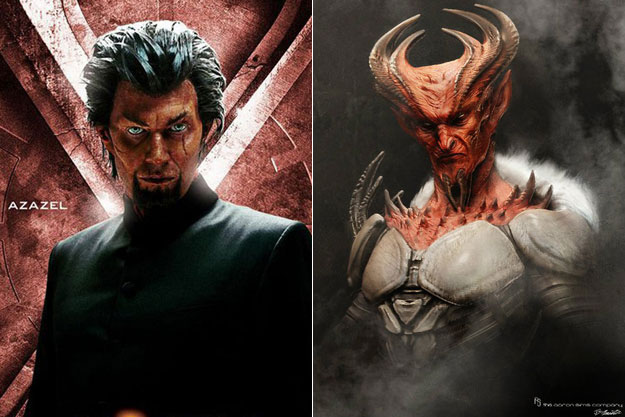 Azazel (X-Men: First Class)-Original Images Of Famous Movie Characters As Imagined By Their Designers