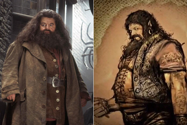 Hagrid (Harry Potter)-Original Images Of Famous Movie Characters As Imagined By Their Designers