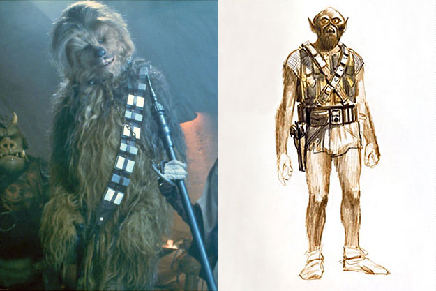 Chewbacca (Star Wars)-Original Images Of Famous Movie Characters As Imagined By Their Designers