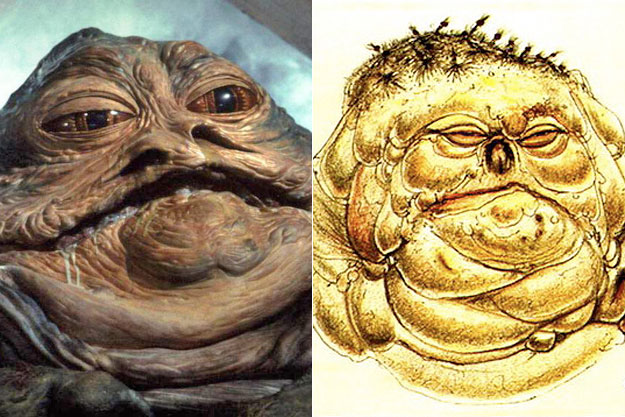 Jabba the Hutt (Star Wars)-Original Images Of Famous Movie Characters As Imagined By Their Designers