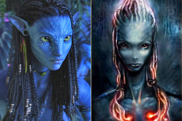 Neytiri (Avatar)-Original Images Of Famous Movie Characters As Imagined By Their Designers