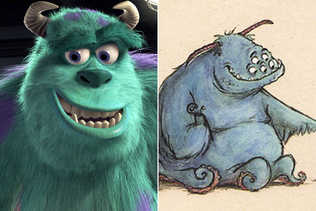 Sully (Monsters & Co.)-Original Images Of Famous Movie Characters As Imagined By Their Designers