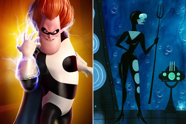 Syndrome (The Incredibles)-Original Images Of Famous Movie Characters As Imagined By Their Designers