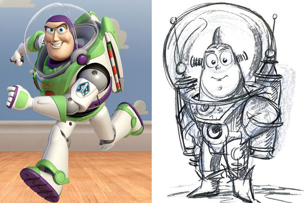 Buzz Lightyear (Toy Story)-Original Images Of Famous Movie Characters As Imagined By Their Designers