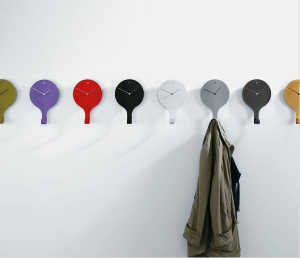 coat rack clock:Unusual And Original Clock Designs