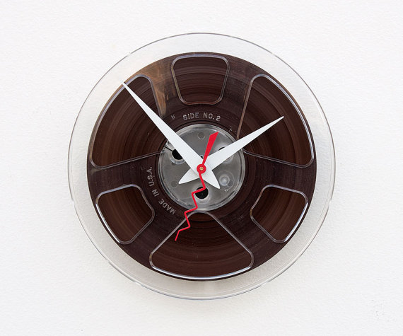 film reel recycled clock:Unusual And Original Clock Designs
